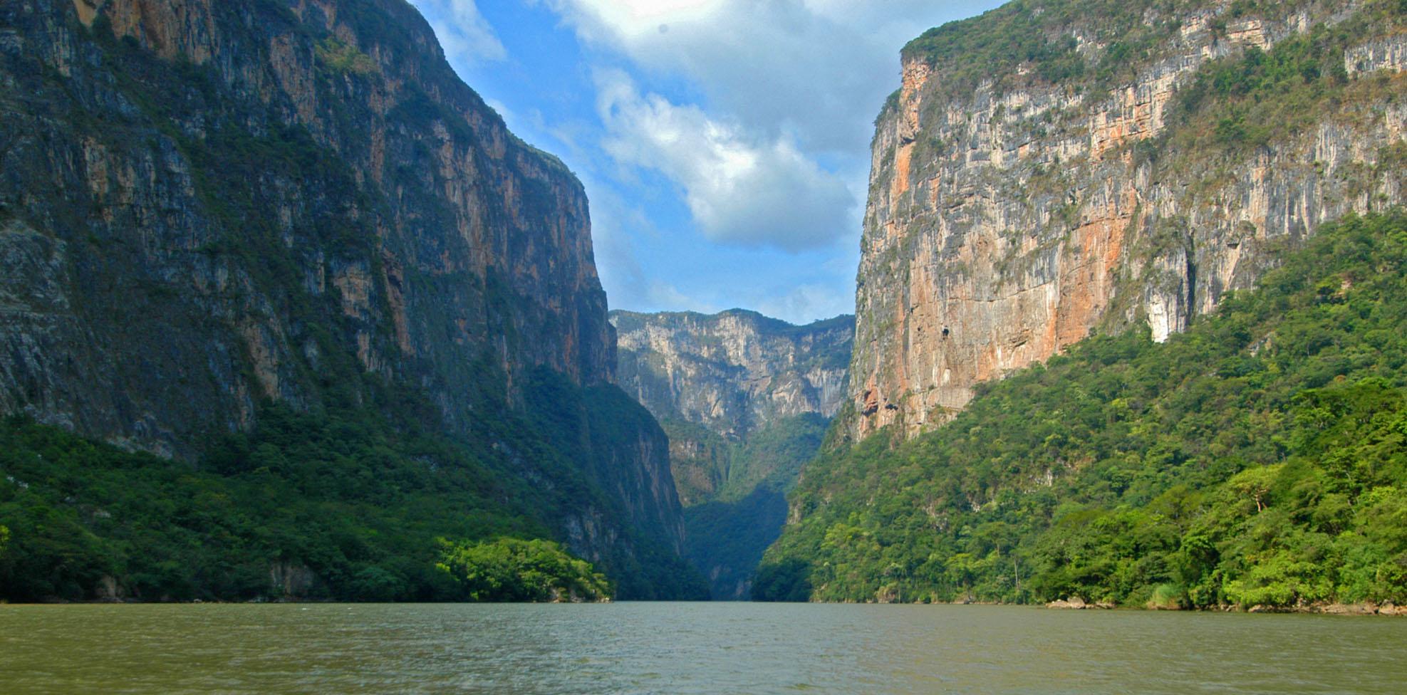 Cañón del Sumidero, en Chiapas.